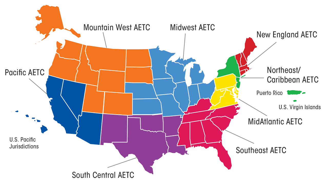 AETC Training Centers Map